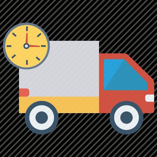 deadline, delivery, transport, truck, van icon