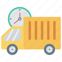 deadline, delivery, fast, shipping, vehicle icon