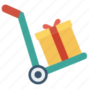 dolly, handtruck, package, parcel, trolley icon