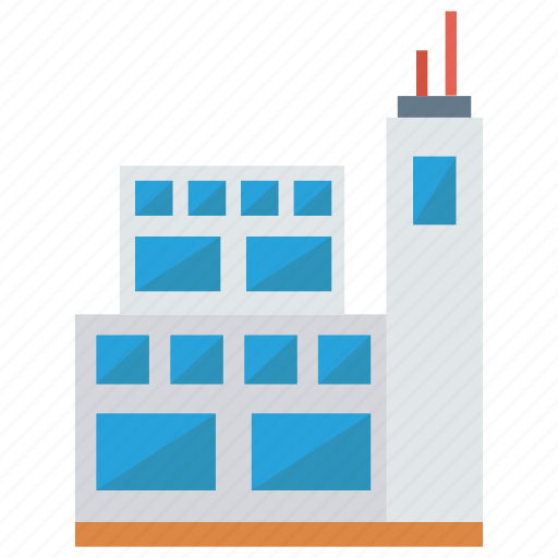 building, factory, industry, office, real icon