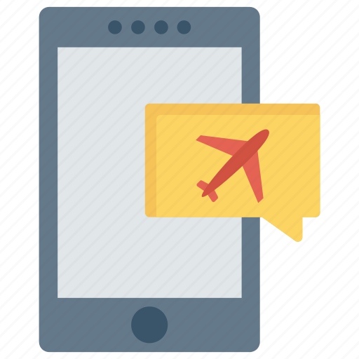 bubble, flight, mobile, phone, travel icon