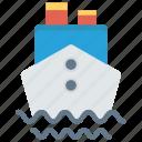 boat, cruise, sailing, ship, transport icon