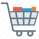 boxes, dolly, handtruck, packages, trolley icon