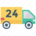 delivery, services, truck, van, vehicle icon
