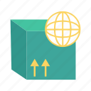 box, delivery, package, parcel, world icon