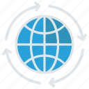 earth, global, planet, reload, world icon
