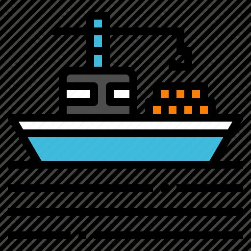 boat, logistic, shipping, transportation, vehicle icon