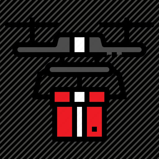 box, drone, logistic, sky, transportation icon