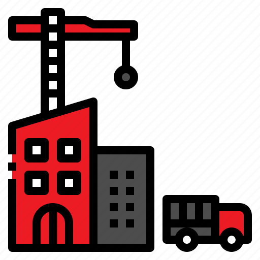 distribution, factory, logistic, transportation, truck icon
