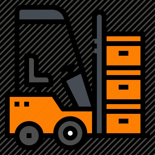 forklift, logistic, transportation, vehicle, warehouse icon