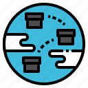communication, global, logistic, transportation, worldwide icon