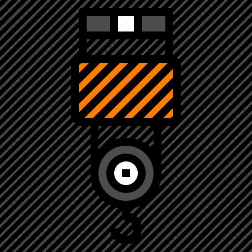 Crane, factory, hook, industrial, machine icon - Download on Iconfinder