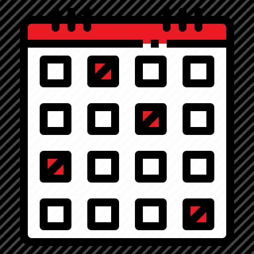 calendar, date, list, schedule, timetable icon
