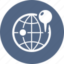 globe, gps, location, pin icon