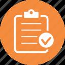 check mark, checklist, clipboard