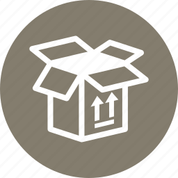 open box, package, shipment, this side up icon
