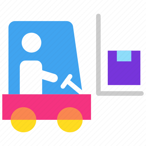 bendi truck, fork truck, forklift, fortkit, industrial transport, loading icon