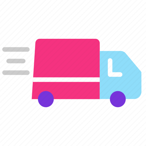 delivery truck, fast delivery, order, parcel, service, timely delivery icon