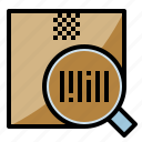 barcode, check, packaging, searching, tracking icon