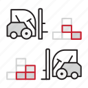 loaders, packages, staplers icon