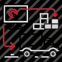 control, loading, logistics, tracking icon