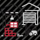 depo, logistic, parcels, stapler, transportation, warehouse icon