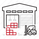 depo, logistics, parcels, warehousing icon