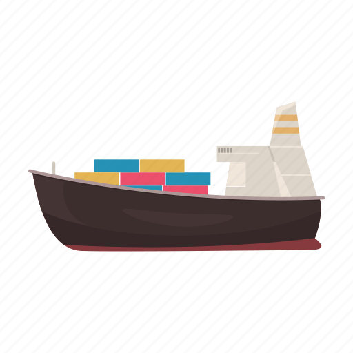 delivery, logistics, sea, ship, transport, water icon