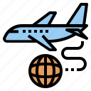 airway, cargo, export, logistics, plane, shipping icon