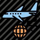 airway, cargo, export, logistics, plane, shipping icon
