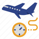 boarding, departure, export, plane, time icon