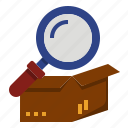 check, customs, goods, import, open, prohibit icon