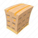 box, carton, cartoon, delivery, fragile, packaging, pallet
