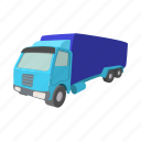 car, cartoon, diesel, semi, trailer, truck, van icon