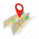 cartoon, gps, isoled, location, map, marker, pin icon