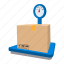 box, cartoon, electronic, grocery, safety, scales, stationary icon