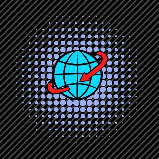 comics, earth, flight, global, globe, travel, world icon