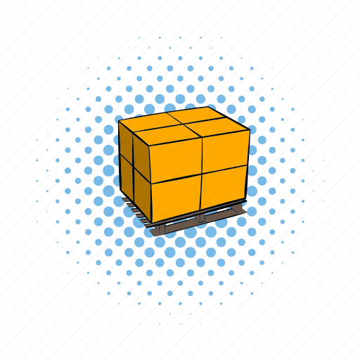 box, carton, comics, delivery, fragile, packaging, pallet icon