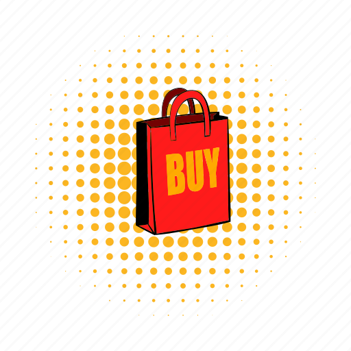 bag, buy, comics, gift, paper, sell, shop icon
