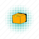 box, cardboard, comics, pack, parcel, ship, shipping icon