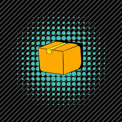 box, cardboard, comics, pack, parcel, ship, shipping icon