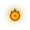 clock, comics, second, stop, stopwatch, timer, watch icon