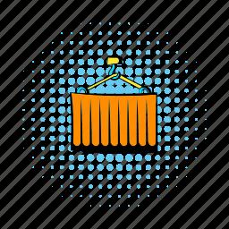 cargo, comics, container, heavy, mode, profile, remote icon
