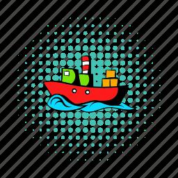 cargo, comics, dry, nautical, ship, shipping, supertanker icon