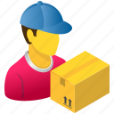 courier, delivery, logistics, man, package, service, shipping icon