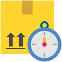box, delivery, fast, logistics, package, parcel, shipping icon