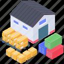 depository, stockroom, storehouse, storeroom, warehouse