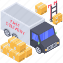 delivery services, fast delivery, logistic delivery, on time delivery, quick delivery icon