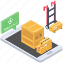consignment tracking, delivery tracking, order tracking, parcel tracking, shipment tracking icon