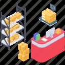 parcel cabinet, parcel case, parcel rack, parcel shelf, parcel storage icon